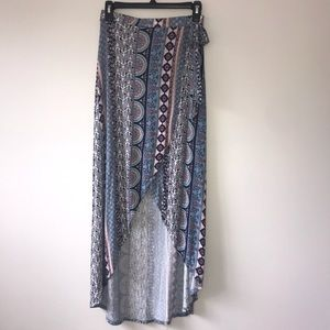 Worn once open front skirt